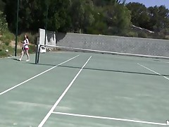 She is out on the tennis court on a bright, warm and sunny day. it makes her very hot and willing to shed her clothes to get rid of her heat. this babe receives into the shower to reveal a pair of zeppelins that can drive a man crazy and an arse that is a enjoyment to look at. coach is going to enjoy her body.