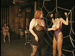 Here's a oldie but goldie bdsm. Headmistress Bianca taunts her female sex serf not merely with her large delicious pantoons but with her skills too. That babe ties Carla's large breasts with rope and squeezed 'em hard after this babe played with them. Carla will have to obey the will of her dominatrix 'cuz she's tied hard