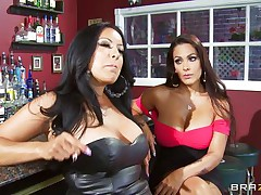 Kiara Mia and Nina Mercedez are 2 hot MILFs those love to play lesbo often. In a bar, those 2 were alone and their homosexuality jumps out of their cages for a dominating hardcore lesbo love. One of 'em got coarse with one more one and made her to strip, engulf boobs & nipples, get gazoo slapped and bawdy cleft licked.