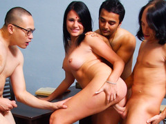 Indian Wife Pleases Her Spouse & Acquires Fucked By His Friends