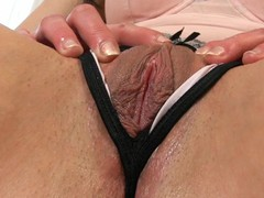 Plowing sweetheart's twat with sex tool always makes her very wet