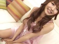 Alluring Japanese honey is moaning wildly from toying her vagina