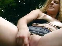 Enjoyment with German babe in the woods