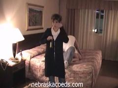 Drunk college hotties fur pie play in hotel
