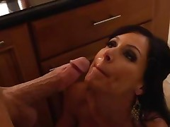 Kendra Lust receives her face doused with sexy dick juice