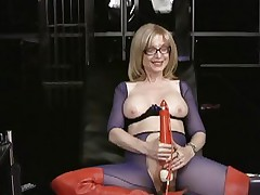 Nina Hartley likes tormenting her juicy wet slot