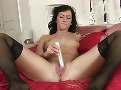 Tess Lyndon toy copulates her soaking soaked bawdy cleft