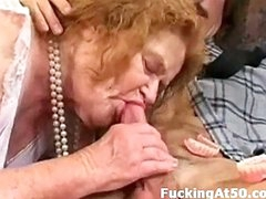 Granny can barely walk but that babe can still give a good fucking