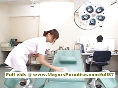 Akiho Yoshizawa Hot Oriental nurse enjoys teasing the doctor