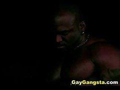 Ebon Homosexual guys Hardcore Group Anal Fuck