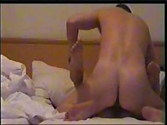 Nice girl's skillful mouth works on her lover's powerful pecker, licking and sucking it very keenly and receives fucked ardently.