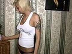 Sassy tattooed golden-haired always inspires her boy-friend to make sexy recent home videos with her starring in them. This time that babe oiled her smooth firm body and sticking tits in front of him then admiring herself in the mirror!