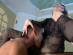 Funky honey gets her legs in fashion tights worshipped for a pantyhosejob