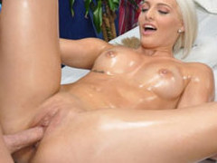 Cute blond Macy is seduced and screwed hard by her massage therapist