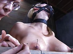 Look at this fucking cheap whore, probably that babe was awaiting for some old fashioned gazoo whipping and throat fucking. Maybe that babe will acquire some of that later but now, the breasty sex slave is going to experience something greater amount intense. With precision and skill they tie her nipples and fingers with wire, want to know why?