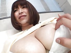 She's gorgeous busty and can't live without giving her big boobs for a admirable suck. Marie can't live without the attention this babe receives and this babe deserves a lot more then some nipple sucking. Watch 'em and as things get hotter. Maybe this Japanese bitch will end up with ball cream all over her breasts