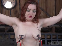 Pretty redhead Maggie is a bit frustrated with her punishment. That babe got used with hard and humiliating treatments and what this babe receives now is just boring. Little did this babe knew that her executor has smth very specific for her beautiful head. This chap overspread her face with latex and suffocation increased her pleasure!