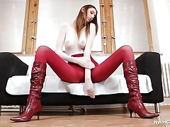 Pamela is overspread in nylon and her long hawt legs, long hair, sexually lascivious face and hot ass makes us wonder if this whore will masturbate in front of us, giving us a very nice show. That hottie is a tall hottie and has a lot to offer, stick around there more to be seen.