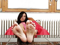Sharon loves sucking, almost all especially her toes. Watch this hawt brunette hair hair with long darksome hair and sexually excited face as that babe sucks her hawt feet and shows us what that babe is capable of, do u think that that babe would engulf 'em with even more pleasure if that babe had some cream on them?