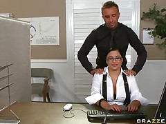 Look at this hot brunette hair with her large whoppers and how that chick widen legs to receive her taut pussy licked. Listen how bad that chick moans of joy with her soaked cookie getting greater quantity concupiscent that before. Is that chick going to receive some dong between those soaked lips?