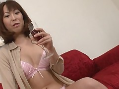 Pretty Asian charms with wild blowbang to receive unfathomable anal