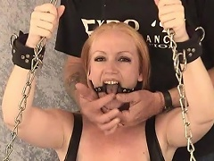 Take a look at this golden-haired slut Tori as that honey is shackled to the...