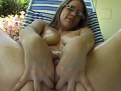 Get ready to be entertained by this luscious brunette hotty as she...