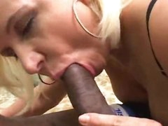 Getting blow job with a lustful blonde honey