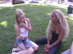 Pair brings home a cute teenage gal