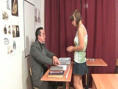 Cute little brunette acquires nailed by her teacher