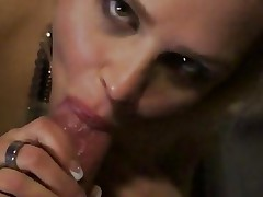 Gorgeous blonde slobbers over this unyielding skin flute