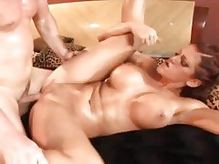 Sweetheart Eve Lawrence enjoys a coarse cum-hole pounding