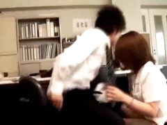 Office Lady Giving Oral-sex Fingered During the time that Bending To The Desk In The Office
