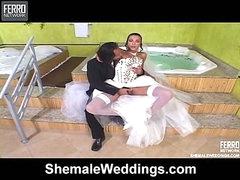 Bruna irresistible tgirl bride