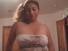 Charming Latin cocksucker is longing for loads of man's cum, getting his hard pecker sucked and licked off.