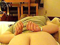 This corpulent aged is willing to go some lengths to spice up her marital sex life. In this stolen homemade video, that babe is featured wearing handcuffs face down on their bed, during the time that her spouse gently and carefully lubes her asshole, hidden well betwixt her immense ass cheeks.