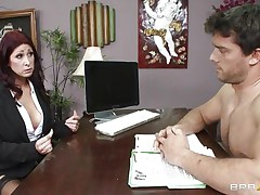 This sexy brunette hair MILF cannot stop herself from reacting to the youthful chap sitting across from him. therefore, that babe moves in for the kill and pretty soon sufficiently that babe has him exactly where that babe wants. Unable to stop himself. Once that babe have her, he will do everything that that babe craves him to do and then some.