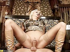 They say aged chicks are marvelous lovers, and this is one mature woman! That babe loves getting boned, riding her stud's meat just as good as any young slut could do if not better. That babe acquires her slit pounded in advance of laying on her back and her man getting between her, drilling her well-aged cunt.
