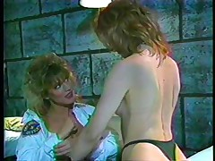 Here's a classic! The female guardian is in inspection, making sure her convict is behaving. This babe gives a decision to give that doxy a treatment and licks her vagina whilst taking care of her own. Find out what these doxies are going to do in the prison cell and if they will have any horny visitors!