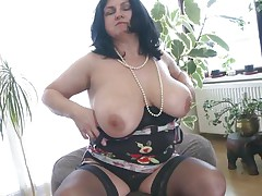 This chunky aged is going eager and definitely in need of some masturbation. So with out wasting any time this babe is revealing her huge boobs and crushing 'em to make her twat wet. After this babe is rubbing her twat and fingering it. As pretty soon as is becomes wet this babe is licking her love juice through her hands.