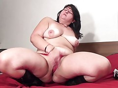 Mandy J. is a busty mature. This playgirl is so out of control that if that playgirl has gone horny no one can stop her from putting a sex-toy in her pussy. The same thing has happened here. At 1st that playgirl is crushing her whoppers like hell. Then that playgirl is putting her finger in her cunt to make it juicy and right after that that playgirl is inserting a large dark sex-toy in her pussy.