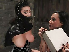 Sandra is a Romanian whore, this babe fulfills her dream as a whore goddess and we acquire to watch her doing what this babe loves most. With an obedient, bound up sex serf in front of her Sandra does her life time passion and punishes the chick. She uses electric shocks and then a stick on those hawt hips and hot gazoo