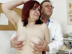 Brunette hair aged lady is lying on the gynecologist's table and the doctor is examining her pussy. This guy is wearing gloves and fingering her muff right after that guy examines her priceless miniature tits. This guy is inserting a thin medical tool in her constricted ass. You really needs to watch where the doctor ends up.