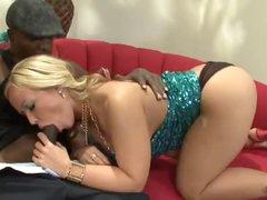 Curvy big tits blonde loves the dark ramrod