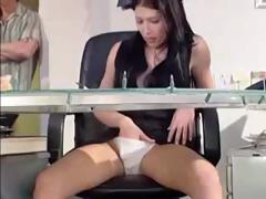 The 1st customer this day with receive a sleazy surprise from the receptionist