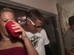 Drunk Women Kara Tai and Tiffany Merlot Getting Fucked In College Party
