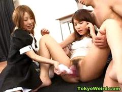 Classroom asian schoolgirl masturbation