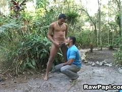 Homo latinos engulfing weenie and banging ass